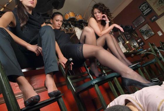 Порно видео три госпожи