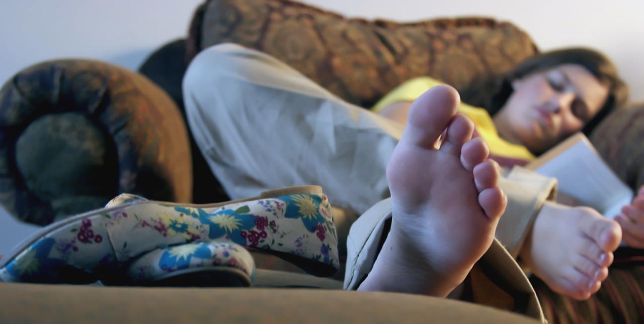 Feet soles gymnastics